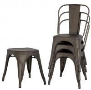 China Metal Outdoor Indoor Stackable Restaurant Chairs Detachable Bronze Classic Style Restaurant on sale