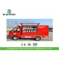 Eco Friendly Electric Fire Truck Fire Fighting Vehicle With Enclosed Cabin Manufactures