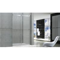 Professional Sliding Glass Shower Screens Frameless 8 / 10 MM Stainless Steel Accessories Manufactures