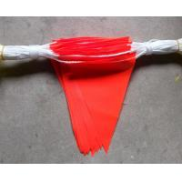 Quality Durable Bright Orange Safety Bunting Flag With Double Stiching for sale