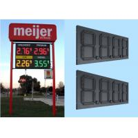 "6"" Red Color Led Gas Station Signs , Digital gas price led sign Noiseless Manufactures"