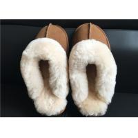 Ladies Countess Sheepskin Slippers Chestnut Deluxe Ladies Sheepskin slipper brown Manufactures