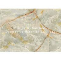 Fashionable Stone Contact Paper Film , Faux Marble Vinyl Film No Bubbles Manufactures