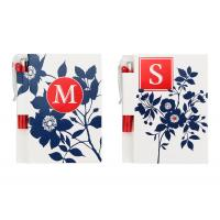 Flower White Printed Personalized Notebooks With Pen , Custom Notepads Manufactures