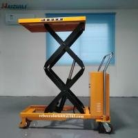 China 500kg 1500mm Mobile Scissor Lift Table , Small Electric Scissor Lift Table on sale