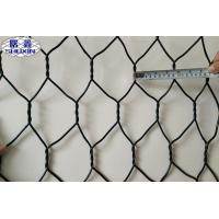 PVC Coated Woven Gabion Mesh Box Mesh Wire 2.7mm / Edge Wire 3.4mm Manufactures