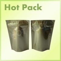 Gold Printed Stand Up Aluminum Foil Packaging Bags For Pet Food Packaging Manufactures