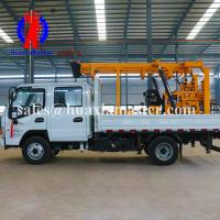 China The 200 m core sampling rig is powered by 48V electric starting diesel engine hydraulic water well drill on sale
