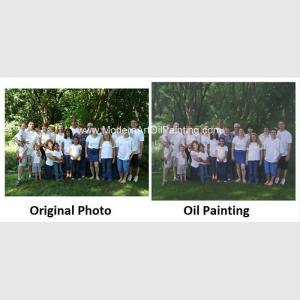 China Realistic Custom Oil Painting Portraits /  Personalized Oil Painting Family Portraits on sale