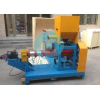 China 350 ~ 450kg/h Floating Fish Feed Pellet Making Machine Single Screw Extruder on sale