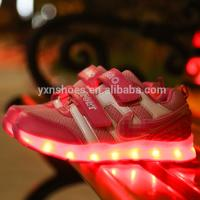 new style mesh kids sport led shoes sneakers for kids, high quality children led light shoes sport with usb Manufactures