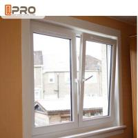 China Thermal Break System Aluminium French Tilt And Turn Window With Toughened Glass on sale