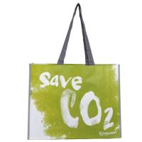 Green Fashion Woven Tote Bag , Recycled Woven Polypropylene Shopping Bags Manufactures
