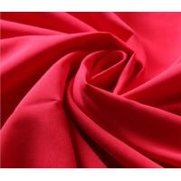 Quality 230T Red Polyester Rayon Spandex Fabric , Jersey Knit Fabric For Garment for sale