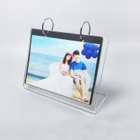 L Shape Custom Clear Acrylic Photo Frame / Family Picture Frames Manufactures