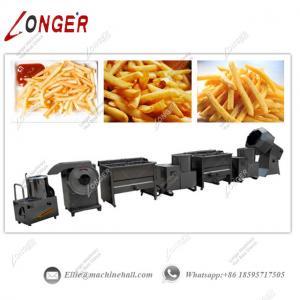 China Semi-automatic Potato Chips Production Line|Potato Chips Machine Price|French Fries Making Machine on sale