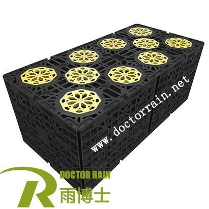 Quality Soakaway Crate Geocellular Attenuation Tank 200L Underground Rainwater Modular Tank For Rainwater Harvesting System for sale