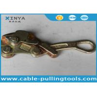 Light Weight 2 Ton Come Along Clamp Wire Rope Grips for 4-22 mm Conductor Manufactures