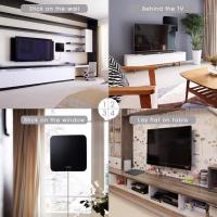 China Amplified HDTV Digital TV Antenna with Long 65-80 Miles Range on sale