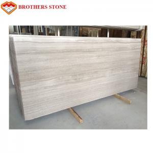 China Large Size White Wood Vein Marble Fashionable Appearance OEM Service on sale