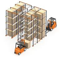 China Double Way Entry Heavy Duty Storage Racks For Warehouse / Factory on sale