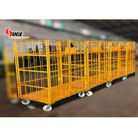 1100*800*1700MM size foldable trolley, customized logistics trolley with mute caster for sale