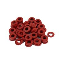 Red Silicone Rubber Seal Ring Food Grade Weathering Processing For Glass Washer Manufactures