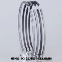 China Super Dolphine / PROFIA Cars Piston Ring Set Fit For HINO K13C 132.9MM 13011-2841A on sale