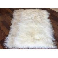 Quality 4' X 6' Tibetan Mongolian Large Rectangular Sheepskin Rug Soft For Bed Covers for sale