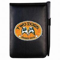 China Promotional Oxford Jotter Pad with Leather-like Cover, Customized Logos are Accepted on sale