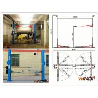 High Stability Hydraulic 2 Post Car Lift With Adjustable Beam Manufactures
