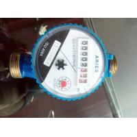 Single Jet Type Pulse Output Water Meter , Cold / Hot Water Meter Class B Standard Manufactures