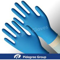 China Chemical Resistant Nitrile Exam Gloves Disposable Colored With Textured Surface on sale