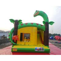 China Dinosaur Inflatable Bounce Houses Kids Jumping Castle Combo Slide on sale
