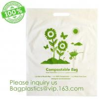 China Eco-friendly Roll Compostable Plastic Bag Drawstring Biodegradable Garbage Bags,cornstarch custom compostable biodegrada on sale