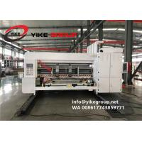 China YIKE High Speed Automatic Lead Edge Water Ink Printer Die Cutter Machine For Corrugated Box Manufactures