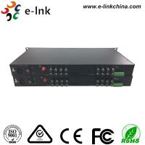 E-link 16-Ch HD-AHD/HD-CVI/HD-TVI/CVBS 4-in-1 Video Fiber Converter with 2 years Warranty Manufactures
