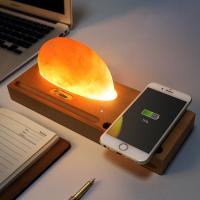 Beech Wireless Qi Charger Mineral Rock LED lamp Wireless Charging Pad for Smartphone Manufactures