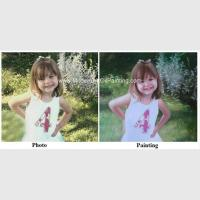 Children Portraits Painting Oil on Canvas Professional Photo to Painting Gift Manufactures