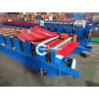 China Auto 914 PLC Control Metal Roofing Sheet Roll Forming Machine With PPGI / GI on sale