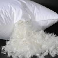 Customize Size Duck Down Pillows With Double Needle Stitching With Self & Satin Material Piping Manufactures