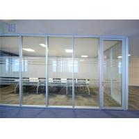 Thermal Break Aluminium Glass Office Partition Walls Waterproof / Fire Prevention Manufactures