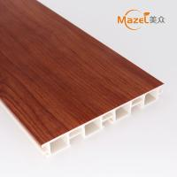 Low MOQ, high quality 100mm wood grain pvc kitchen skirting Manufactures