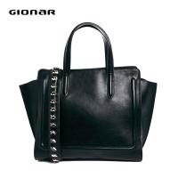 Studed Leather Shoulder Strap Hanbag , Women Totes Bags For Weekend Manufactures