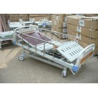 China Four Cranks Anti Rust Treated Manual Hospital ICU Bed With CPR Function wholesale