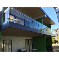 Exterior balcony glass balustrade with stainless steel spigots glass railing Manufactures