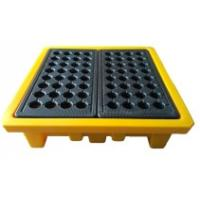 Leak Proof 4 Drum Spill Containment Pallet Spill Platform For Drum Storage Manufactures