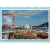 Electric 6 Ton Construction Tower Crane Safety Manual , Static Tower Crane Hoist Manufactures