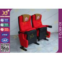 Push Back Function Folding Theater Chairs Removable Legs Movie Seating For Auditorium Manufactures