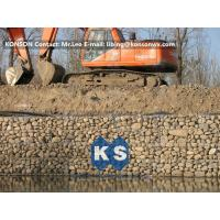 Zinc Galvanised Wire Gabion Boxes / Gabion Cages For Flood Protection Products Manufactures